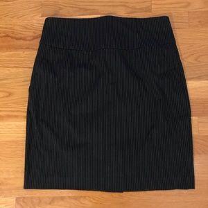 Banana Republic Pinstripe Pencil Skirt